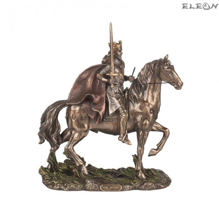 Статуетка Крал Артур на кон 30см, изработена от полирезин