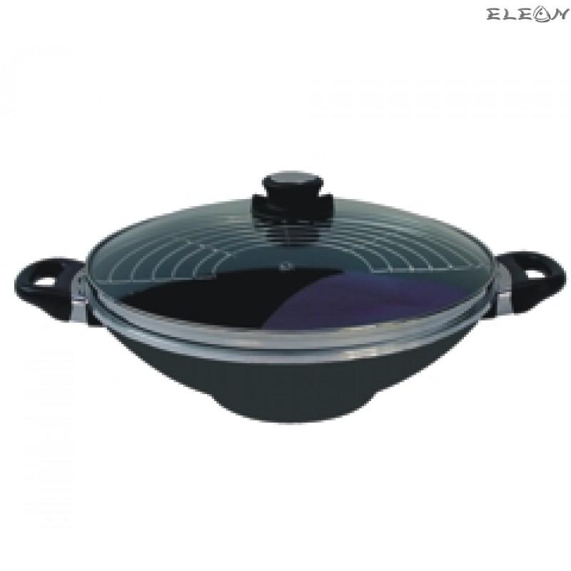 УОК Тенджера със стъклен капак и приставка за готвене на пара - Ø 32см