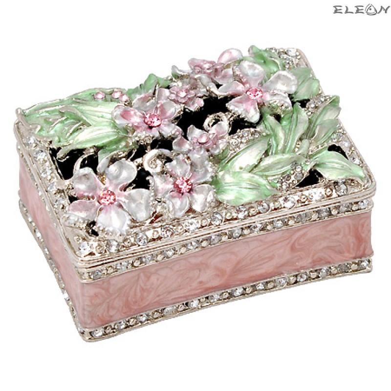 Кутия за бижута светло розова JN0104