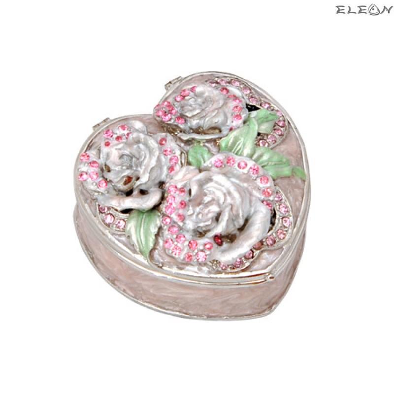 Кутия за бижута роза розова JN0502