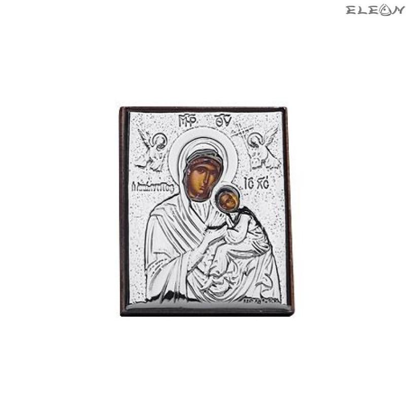 Сребърна Икона - Дева Мария с младенеца RG6473