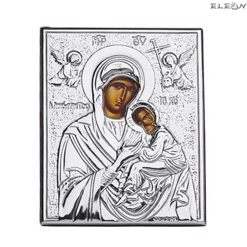 Сребърна Икона Дева Мария с младенеца