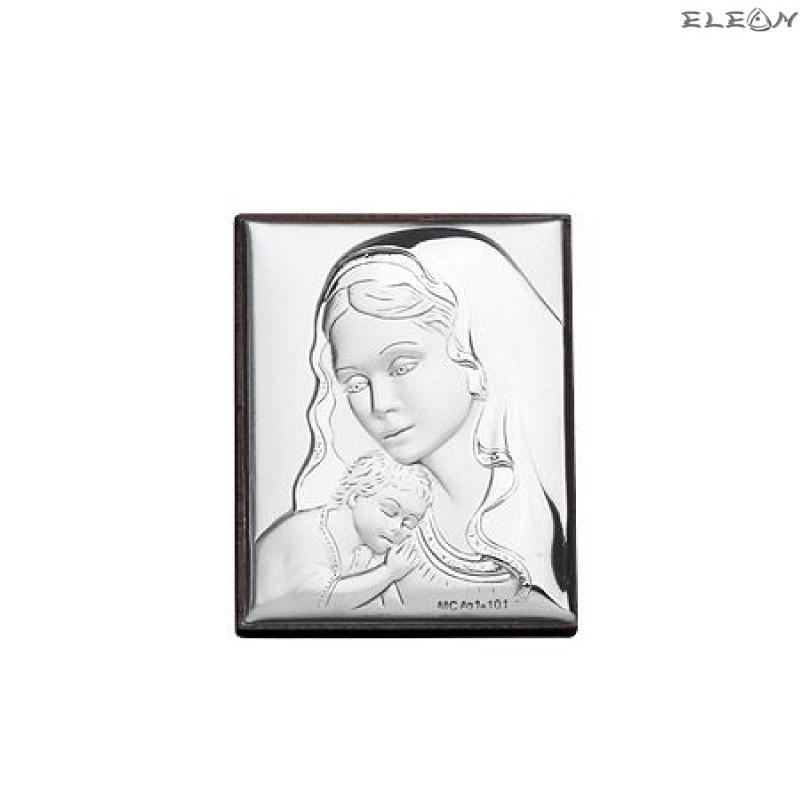 Сребърна Икона - Дева Мария с младенеца RG6586