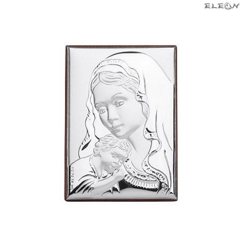 Сребърна Икона - Дева Мария с младенеца RG6600
