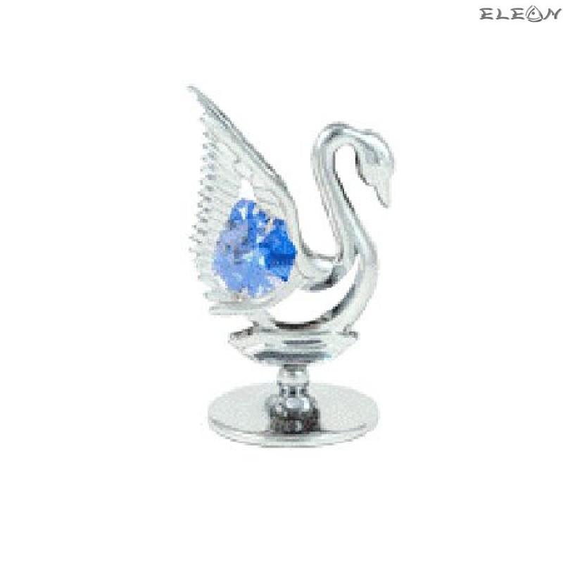 Crystocraft Лебед сребро - Swarovski Crystal RY005