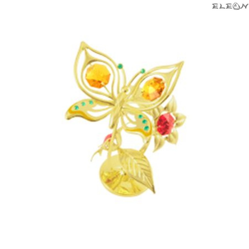 Crystocraft Пеперуда на цвете - Swarovski Crystal RY018