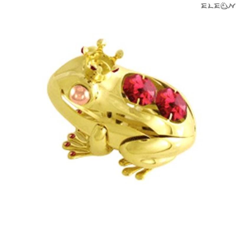 Принцеса жаба златна - Swarovski Crystal RY020