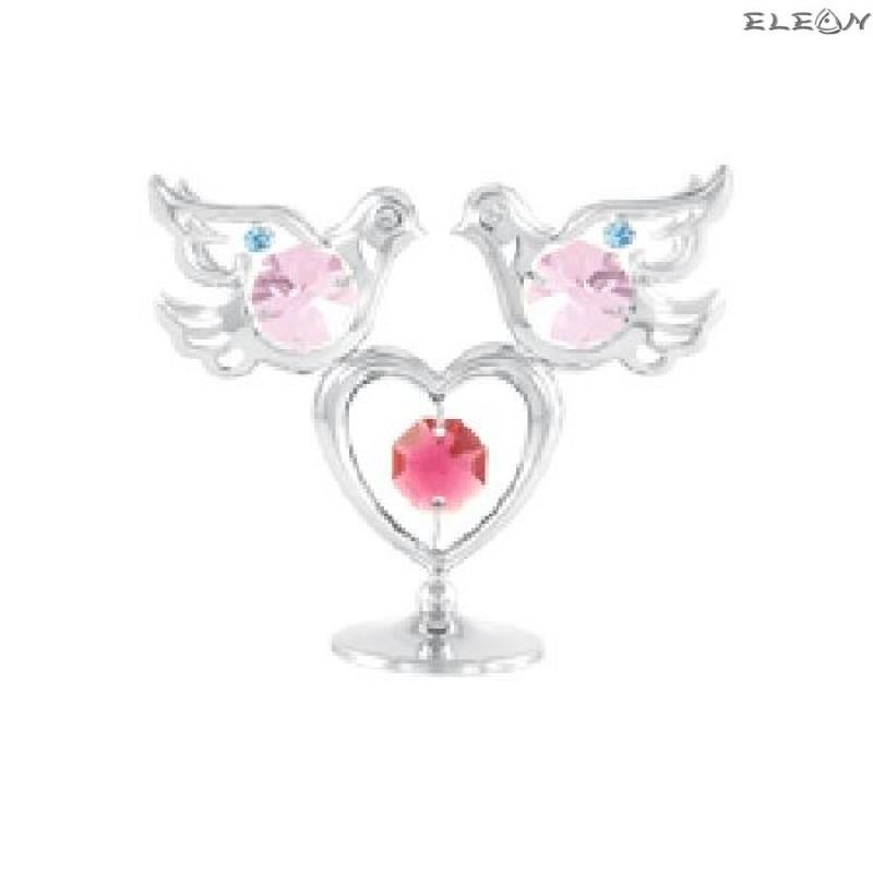 Crystocraft Гълъбче със сърце - Swarovski Crystal RY021