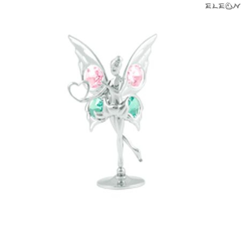 Crystocraft Балерина сребърна - Swarovski Crystal RY038