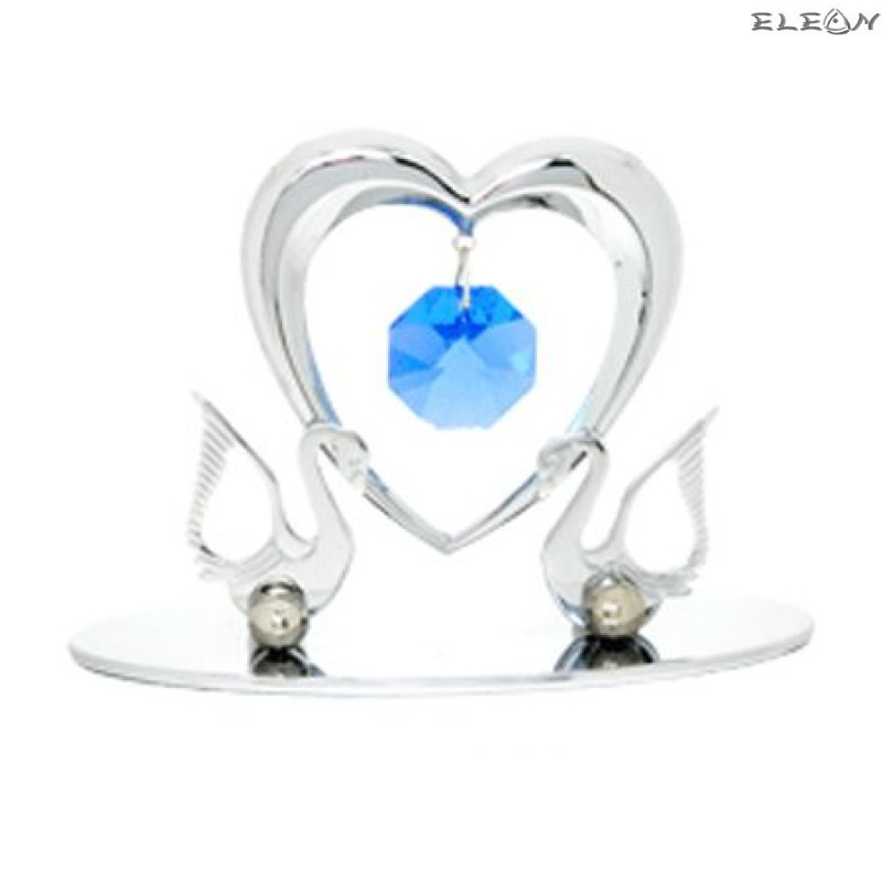 Crystocraft Лебеди със сърце - Swarovski Crystal RY043