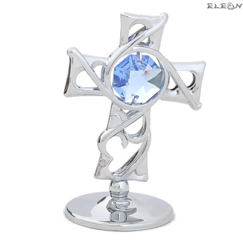 Crystocraft Кръст сребро - Swarovski Crystal RY080