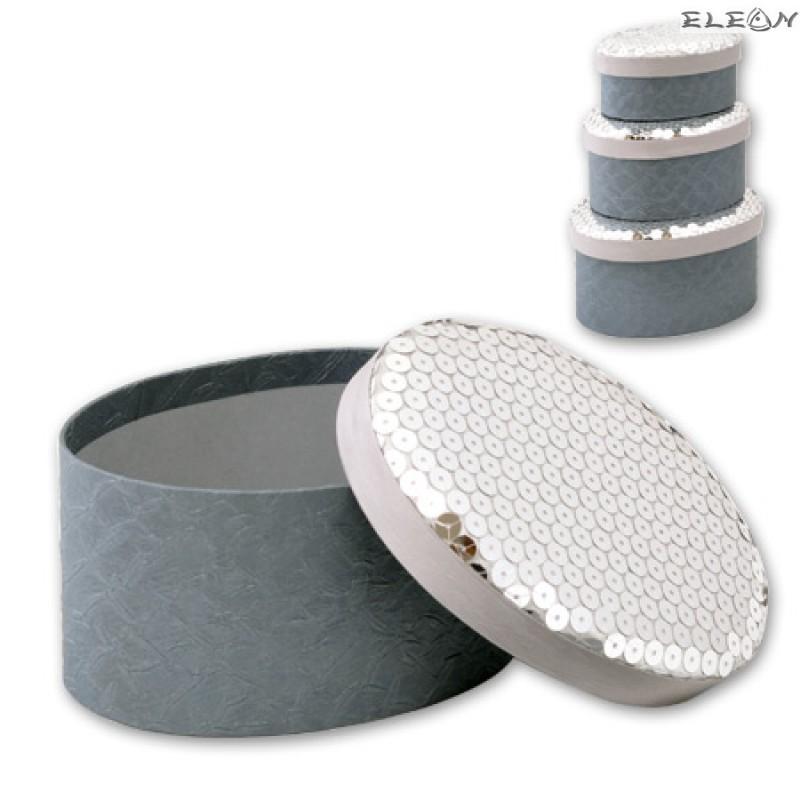 Кутии за бижута Silver - к-т от 3 броя S0333B