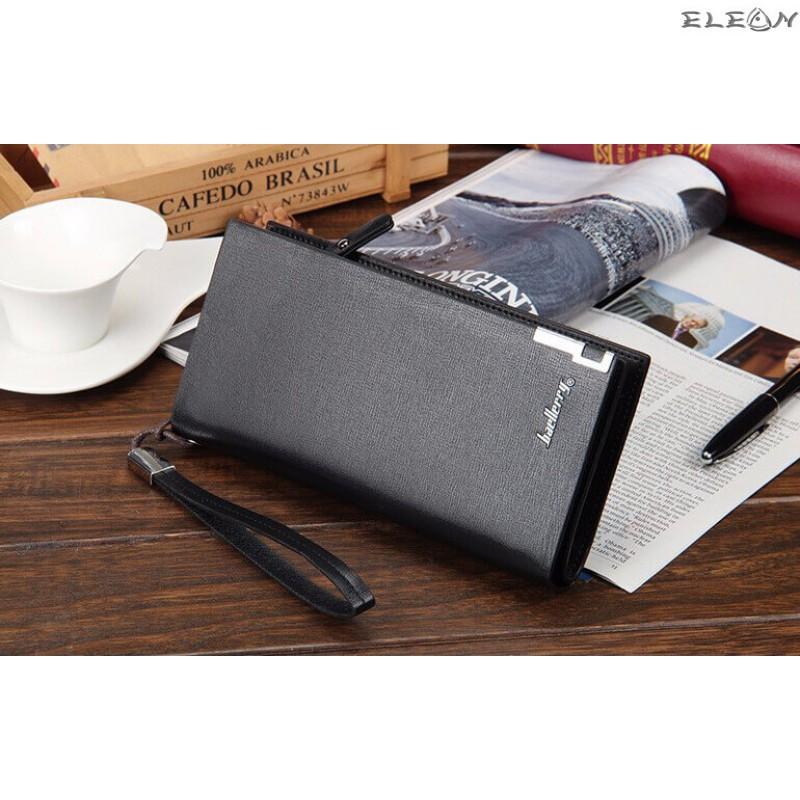 Кожен дамски портфейл от синтетична кожа - baellerry black