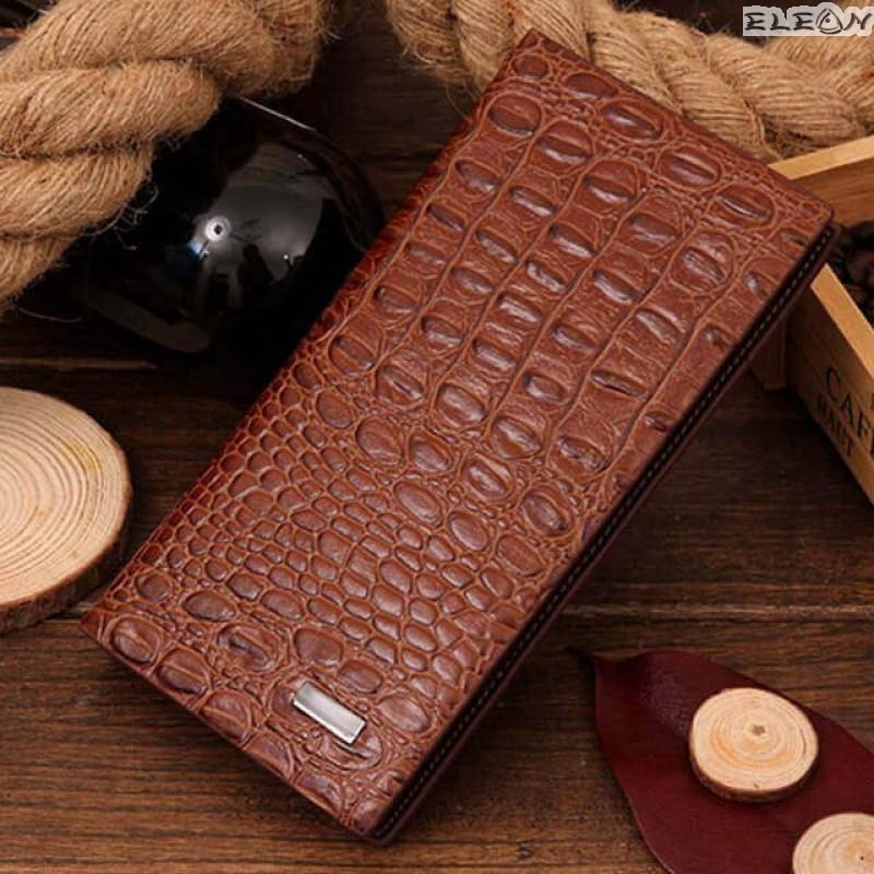 Дамски кожен портфейл от еко кожа - croco03