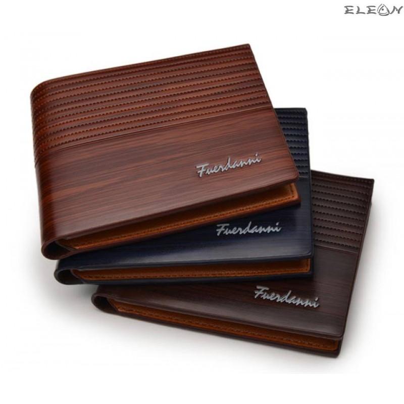 Мъжки портфейл от еко кожа - lux chocolate2