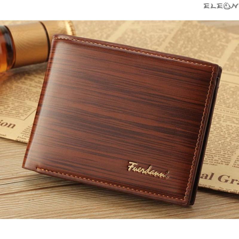 Мъжки портфейл от еко кожа - lux brown2