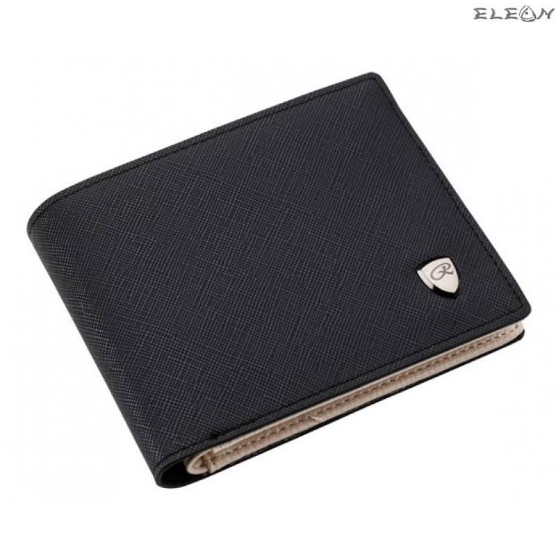 Стилен мъжки портфейл от еко кожа - fresh black