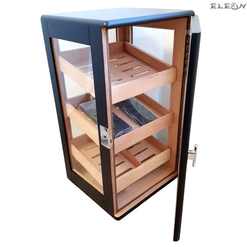 Луксозен кабинетен Хумидор на 3 нива, премиум Кутия за пури