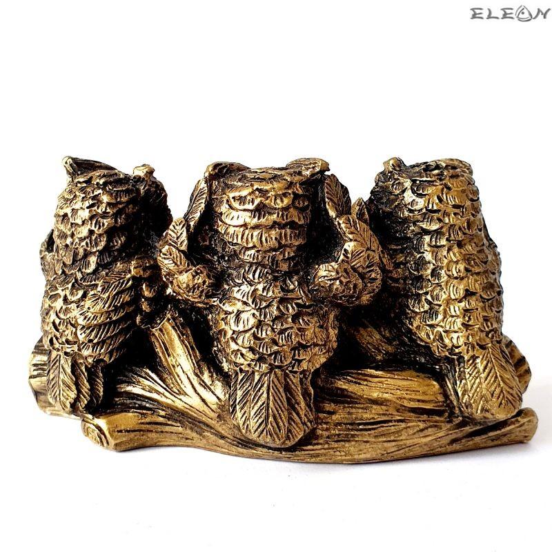Статуетка Три Сови - не видял, не чул и не знам