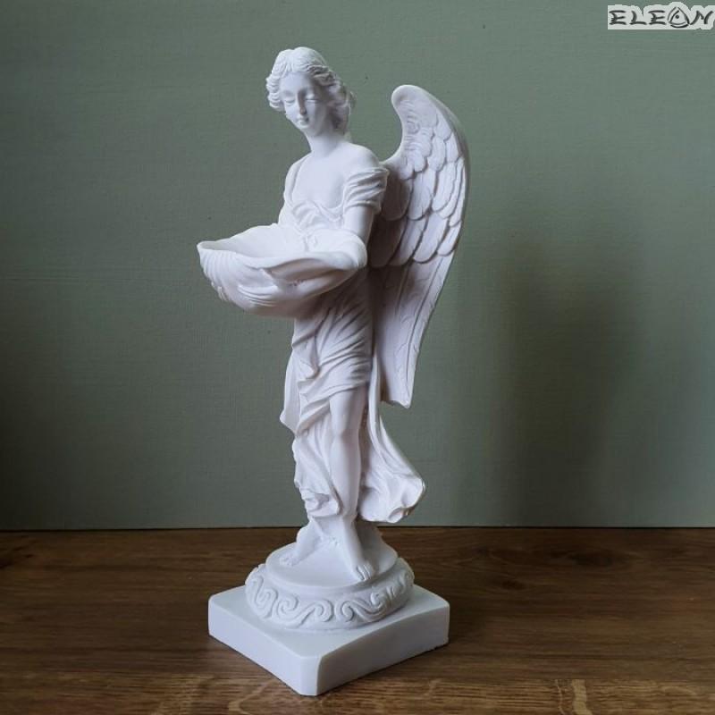 Статуетка АНГЕЛ пазител от алабастър