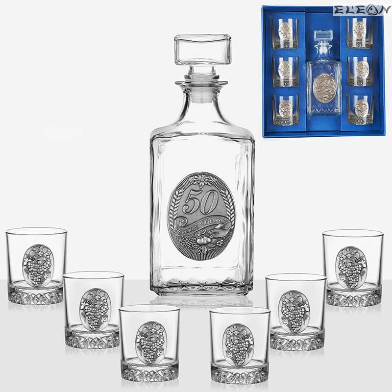 Юбилеен сет за уиски от 7 части