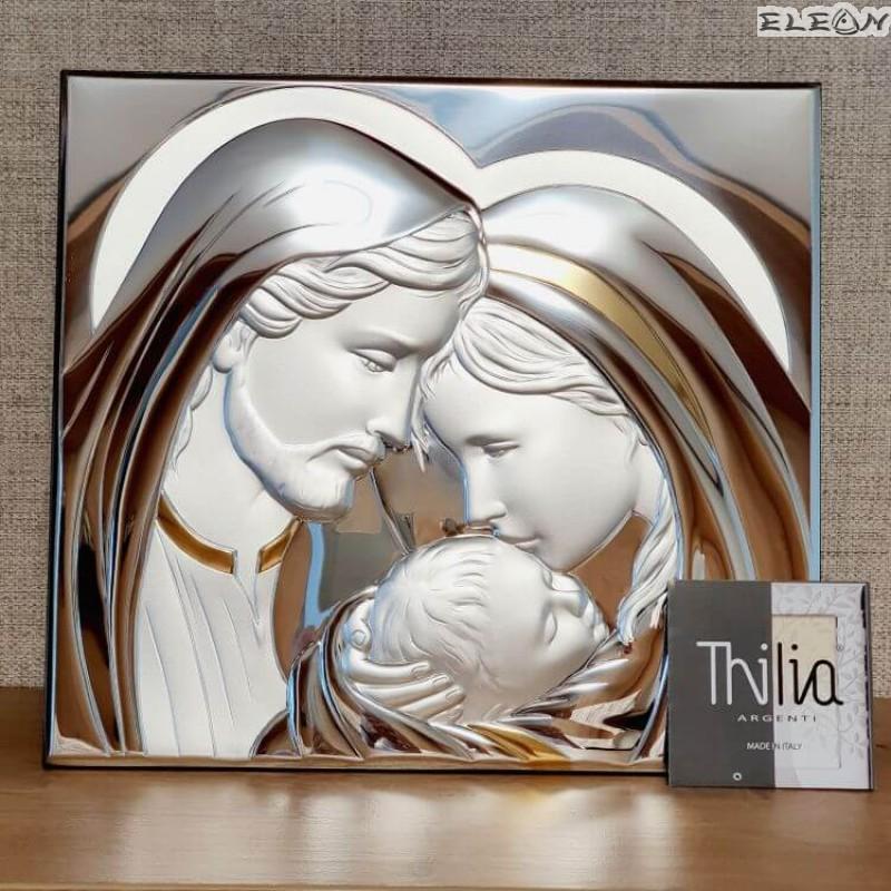 Икона Свето Семейство, голяма сребърна икона