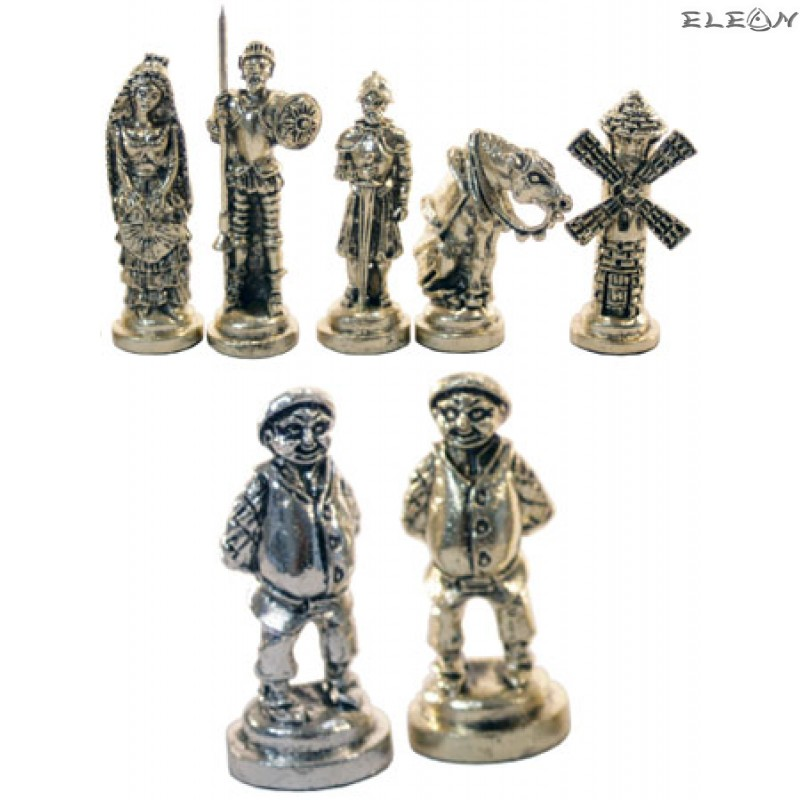 Шах с месингови фигури - ДОН КИХОТ MA5090