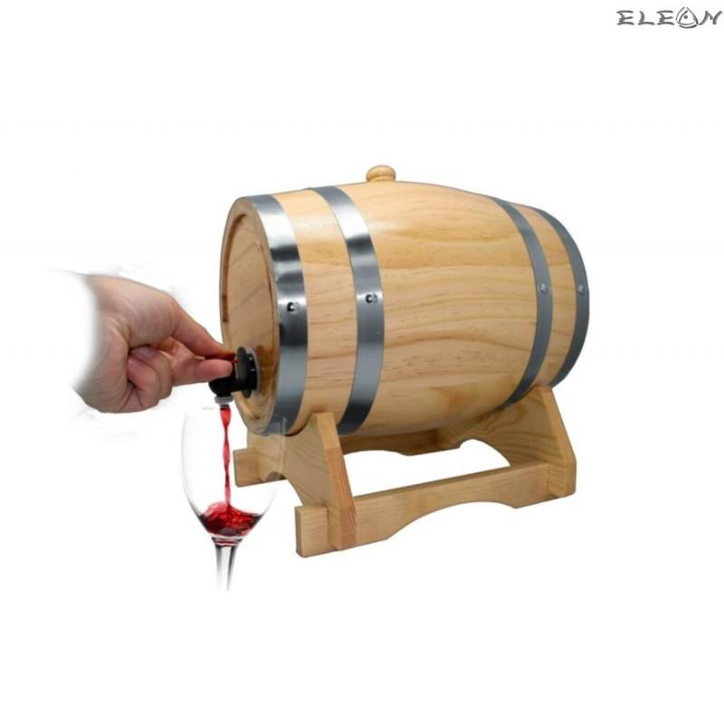 Дървено Буре за алкохол на дървена поставка - 3 литра