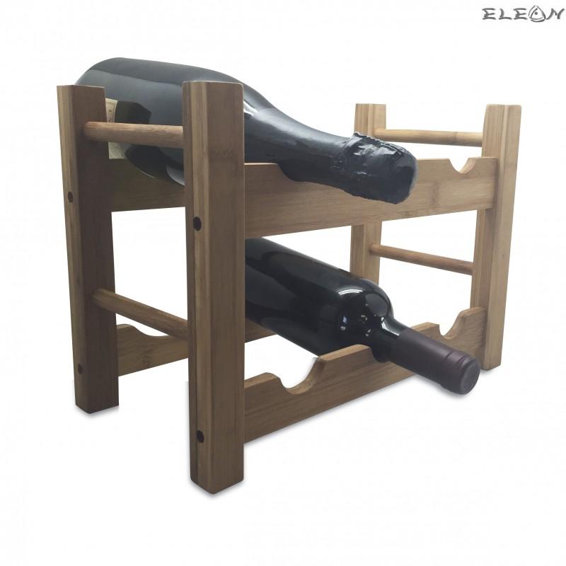 Стойка за бутилки от бамбук за 6 бутилки - Vin Bouquet