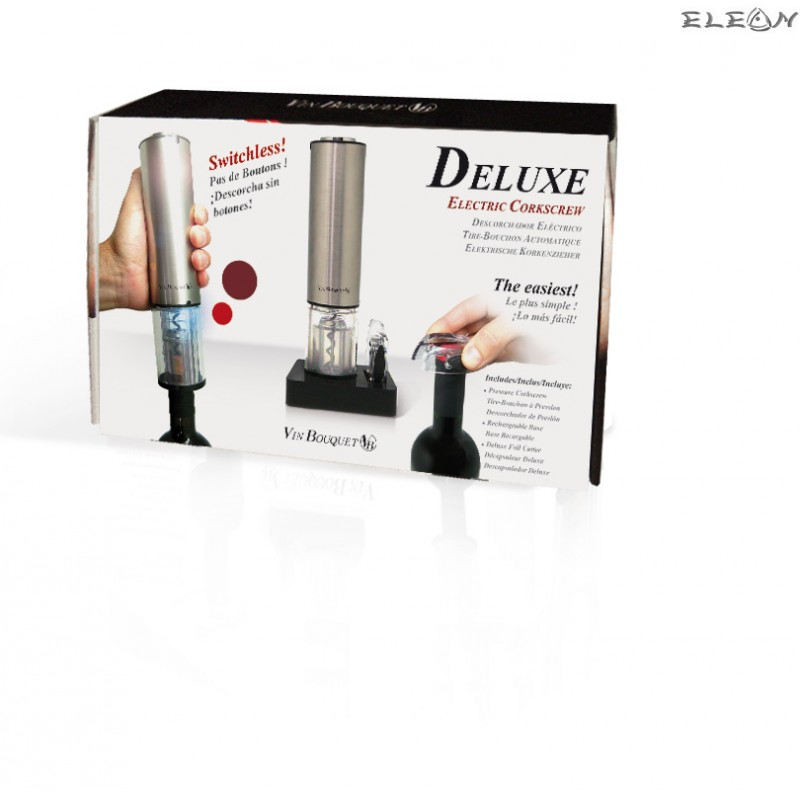 Vin Bouquet - сет Електрически Тирбушон DELUXE 3части