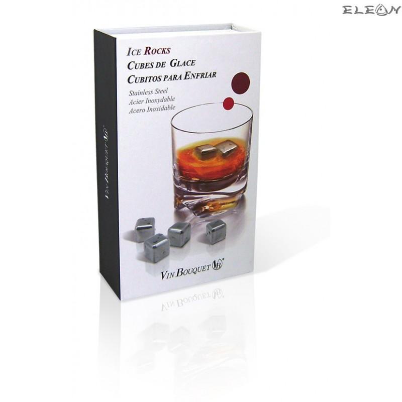 Vin Bouquet - 4бр Стоманени Охладители за напитки ACE ROCKS