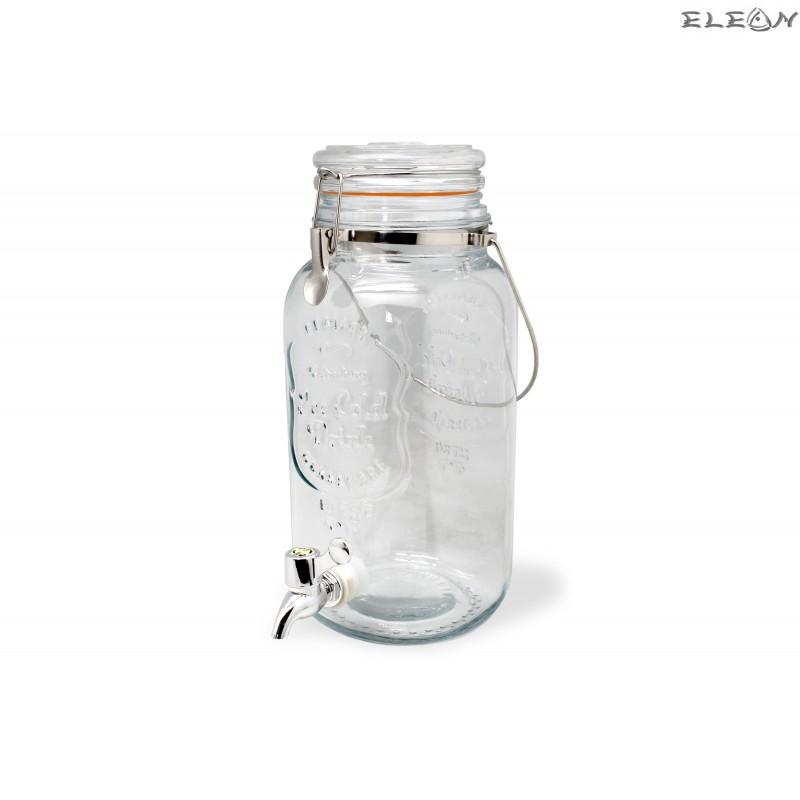 Стъклен буркан / диспенсър за течности 4л. с кранче - Vin Bouquet