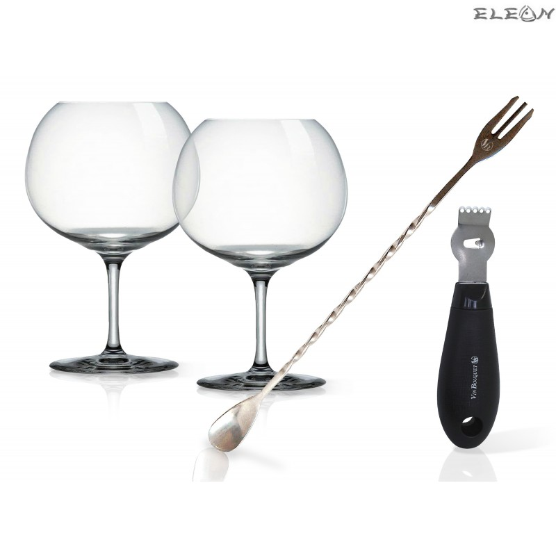 Сет за джин тоник с две чаши - Vin Bouquet