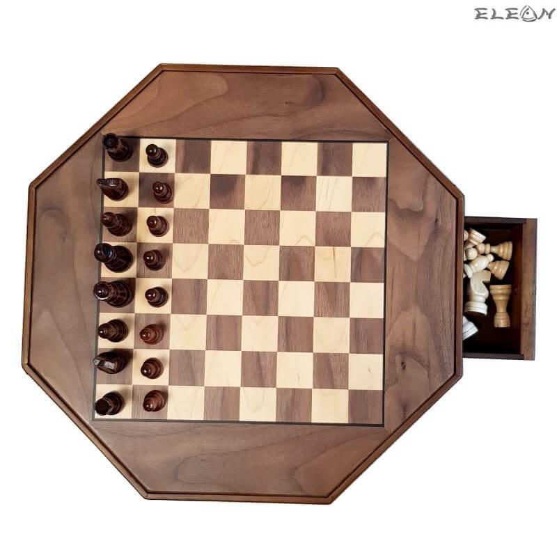 ШАХ с дървени фигури и дървена дъска, 2 чекмеджета за фигурките - 129