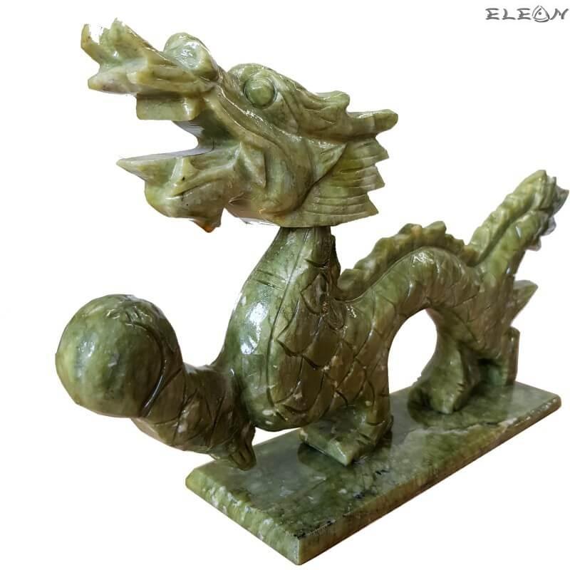 Китайски дракон, статуетка от оникс