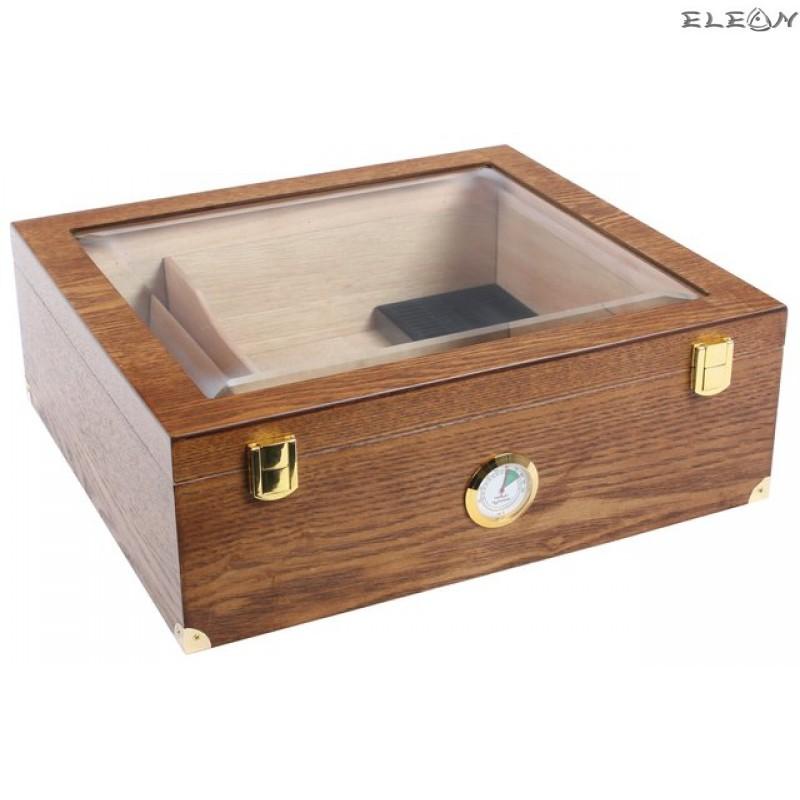 Хумидор лукс с марка HADSON, цвят орех - кутия пури 009476