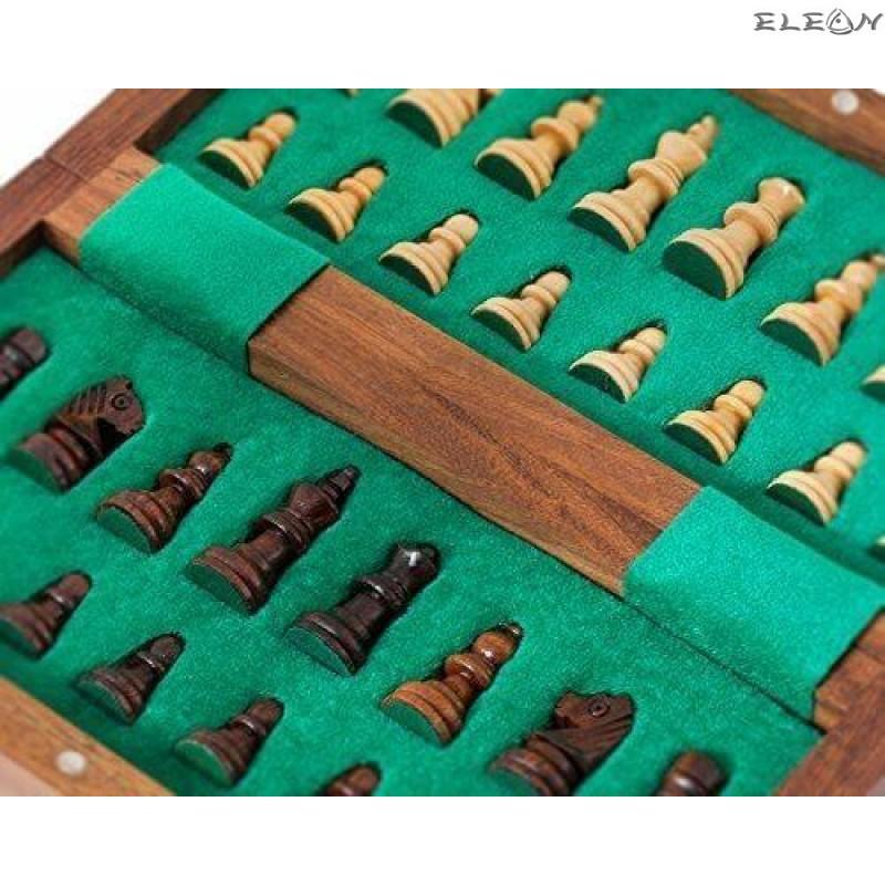 Магнитен ШАХ с дървени фигури