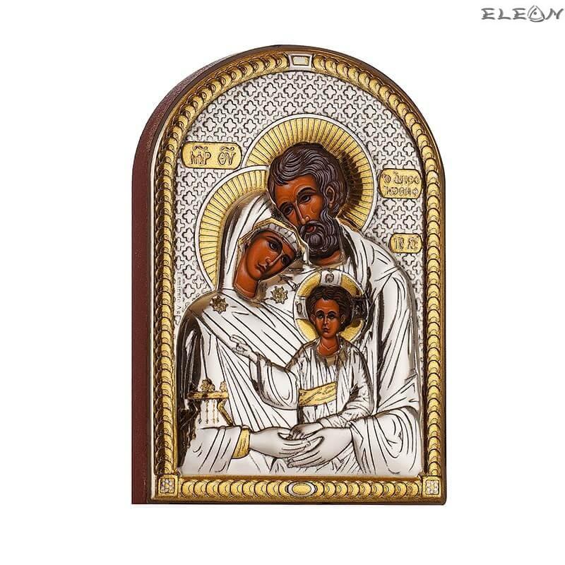 Сребърна Икона Свето Семейство
