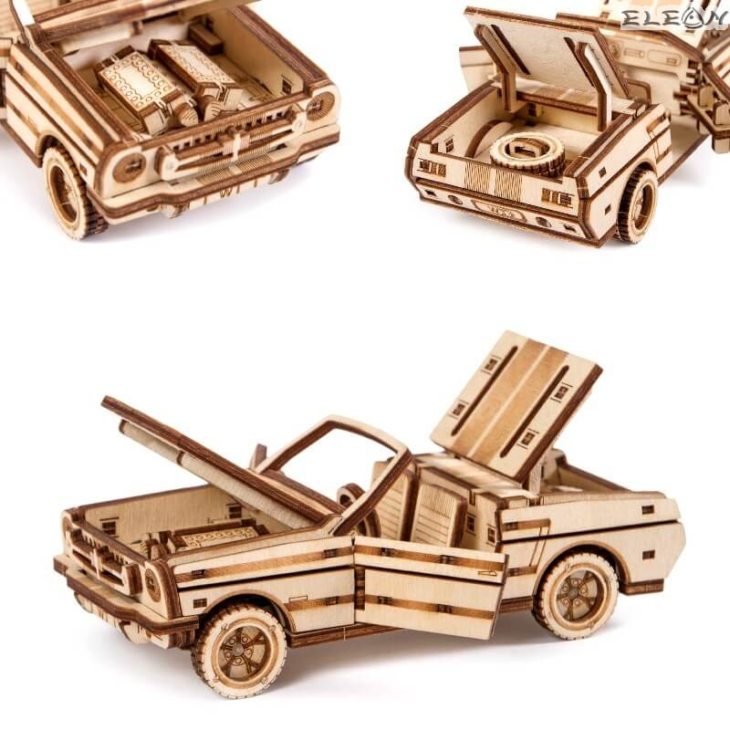 3D пъзел Кабриолет 17см, 110 части