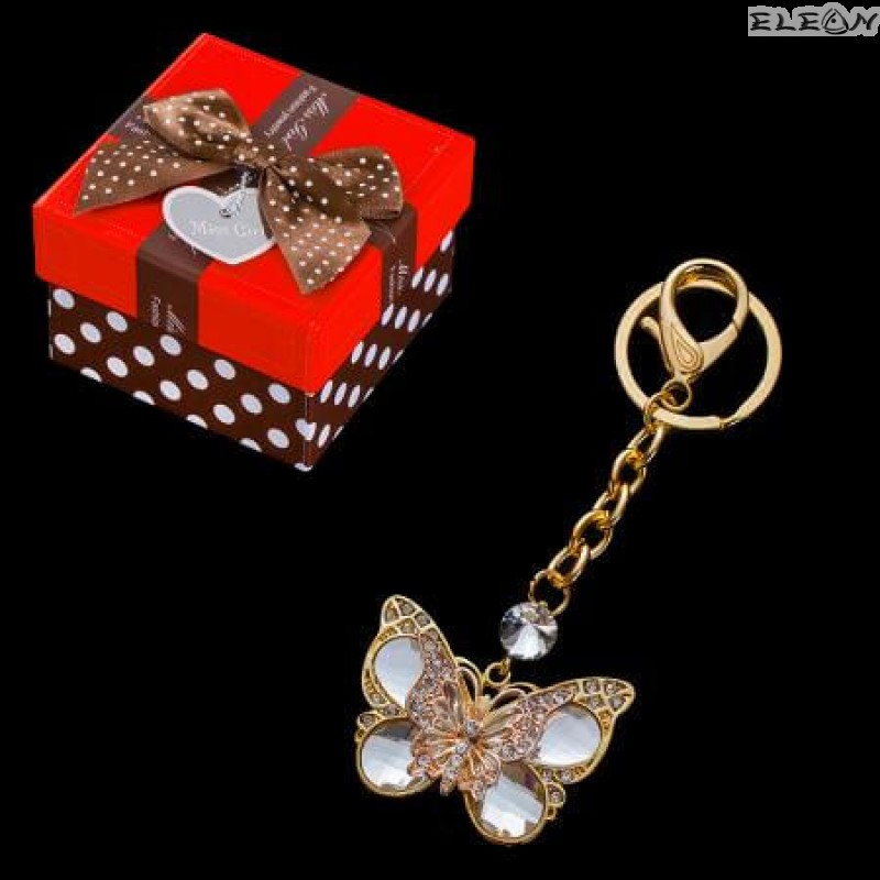 Ключодържател Пеперуда gold