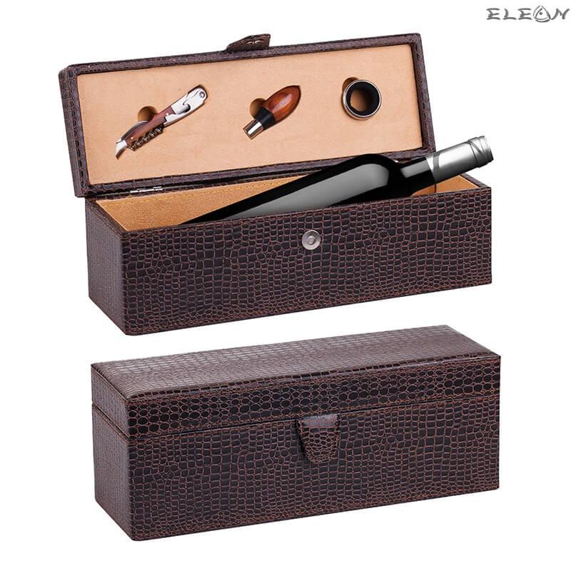 Кутия за 1 бутилка вино с 3бр от най-необходимите аксесоари  UC14