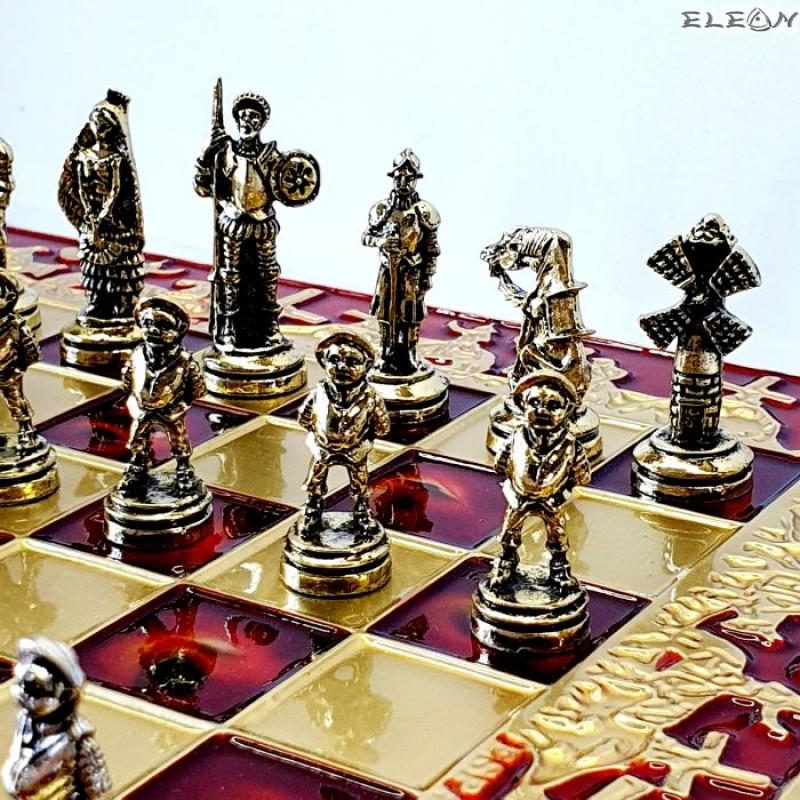 Шах с месингови фигури - ДОН КИХОТ MA2020