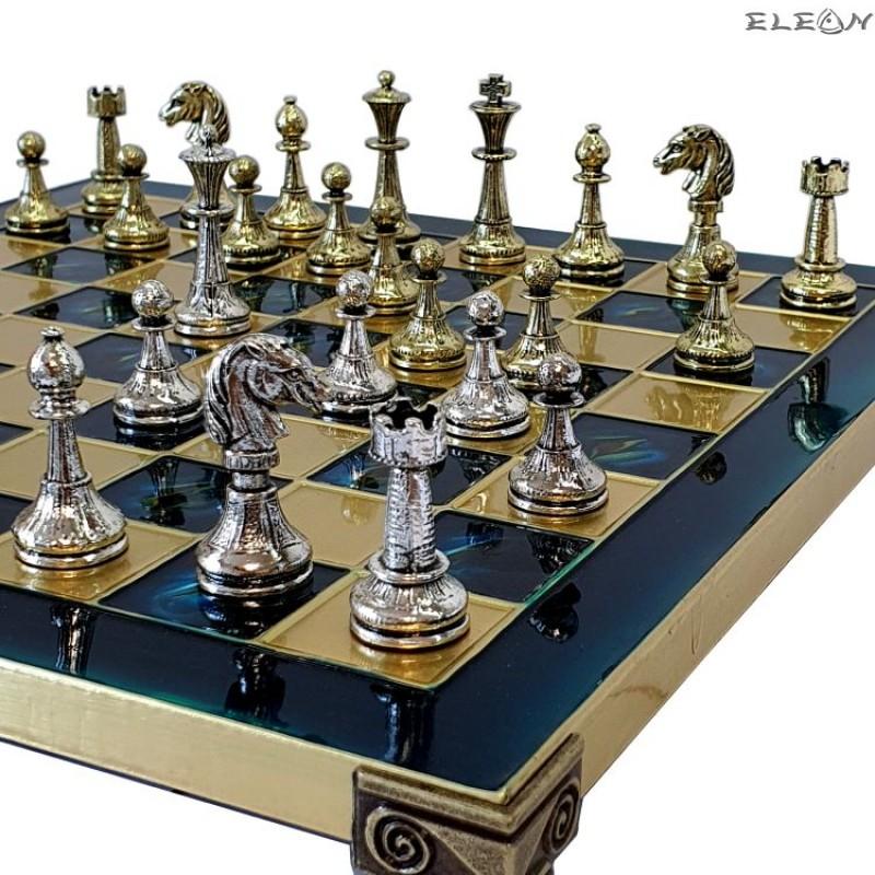 VIP Шах мат с месингови фигури