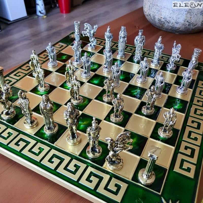 Шах с месингови фигури - АЛЕКСАНДЪР велики MA5060
