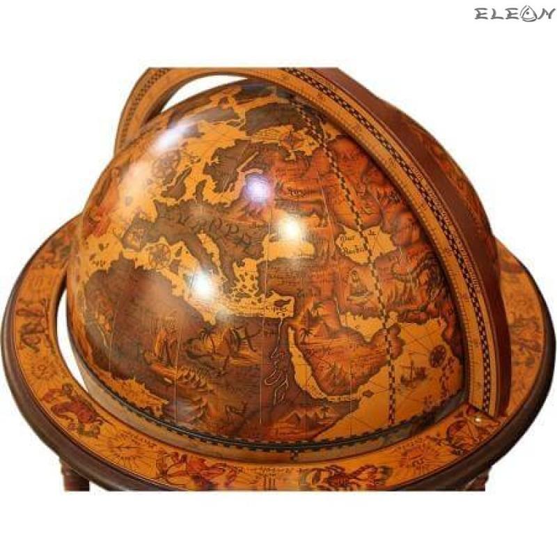 Настолен Бар Глобус с антично излъчване