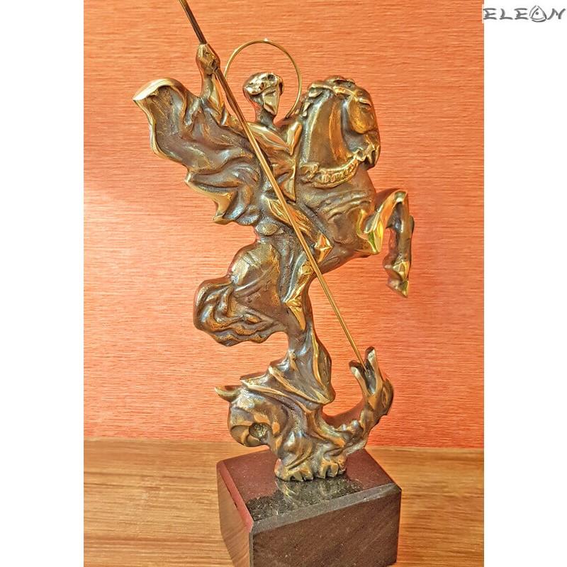 Ръчно изработена скулптура от месинг Св. ГЕОРГИ 30см -SH102