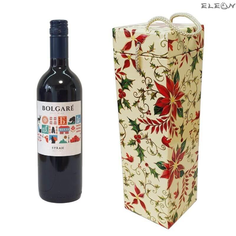 Коледен подарък - бутикла червено вино Bolgare