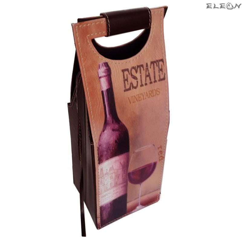 Подаръчна Кожена кутия за вино за 1 бутилка - SZ049272