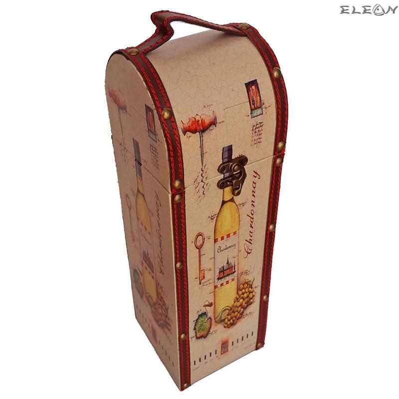 Дървена кутия за вино за 1 бутилка - SZ049611