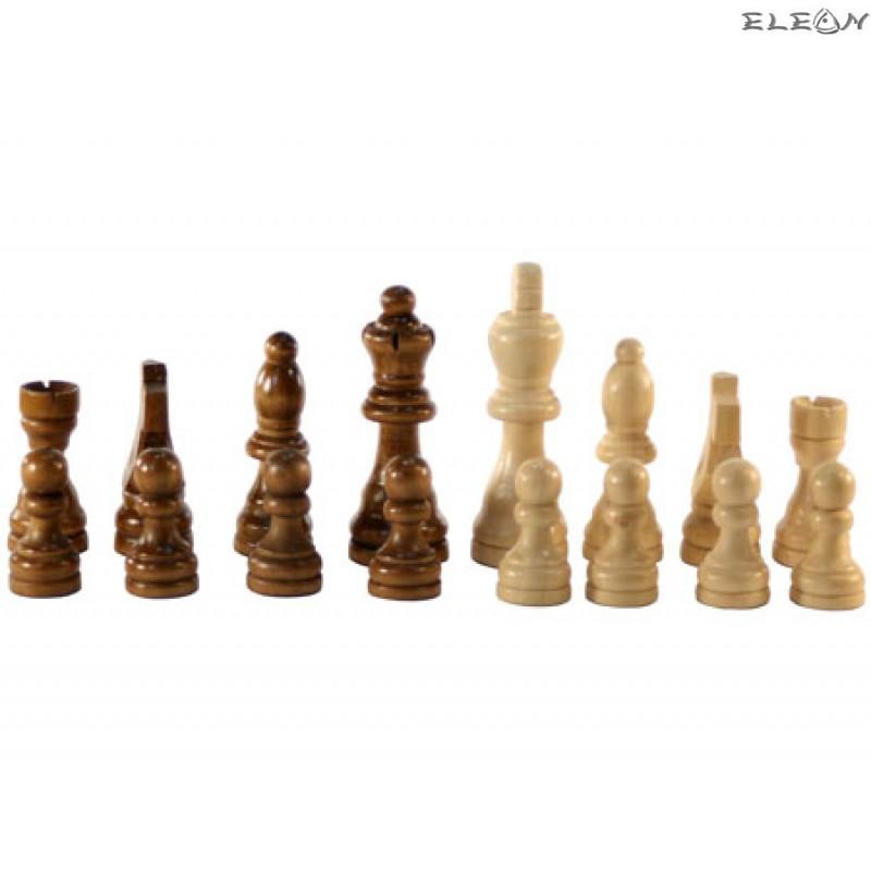 дървени фигури за ШАХ в дървена кутия - 0186234